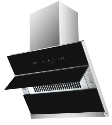 MODA Germany Kitchen Chimney With Gesture Control Stainless Steel Black Glass - Petra NEX 60