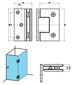 Glass to Glass 90° Shower Hinge