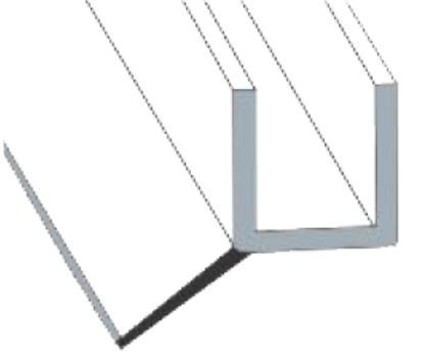 Glass to Floor PVC Seal Profile–Slanted Soft Flap