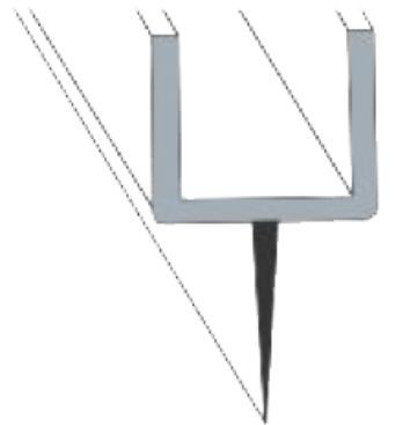 Glass to Floor PVC Seal Profile- Double Straight Soft Flap