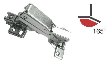 HEAVY 165° SLOW MOTION HINGE CLIP ON With Mounting Plate For Door Thickness 16 -25 mm