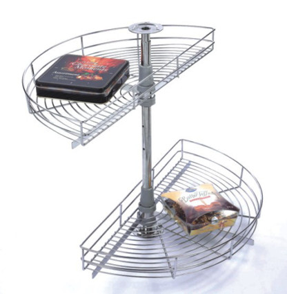 ½ Round Carousel Wire Basket Stainless Steel
