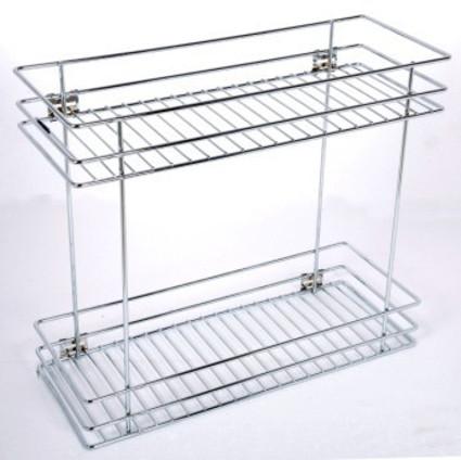 Two Shelf Organiser  Wire Basket Stainless Steel