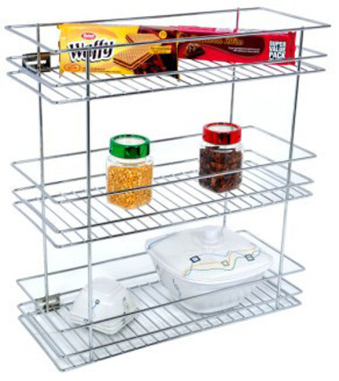 3 Shelf Bottle Pull-out Wire Stainless Steel