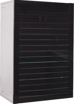 BLACK GLASS ROLLING SHUTTER