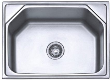 SS202 23x17 inch Anti-Scratch Single Bowl Sink