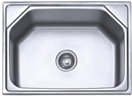 SS202 24x18 inch Anti-Scratch Single Bowl Sink