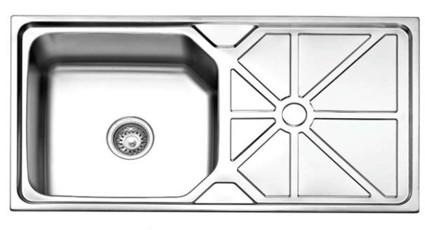 SS202 38x20 inch Anti-Scratch Single Bowl with Platform Sink