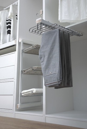 Top Mounted Trouser and Saree Rack Pull out Soft close