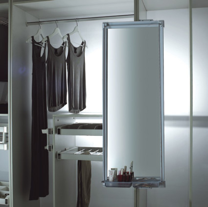 Movable Pull Out Mirror with Tray