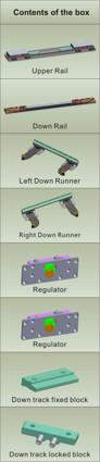 Inline Sliding Door System - Dual soft close