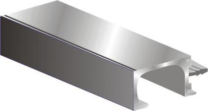 35 mm G-Handle Profile with end-cap 19mm door