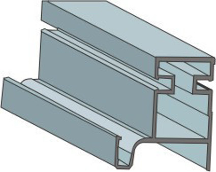 L-Shaped Vertical Gola Profile