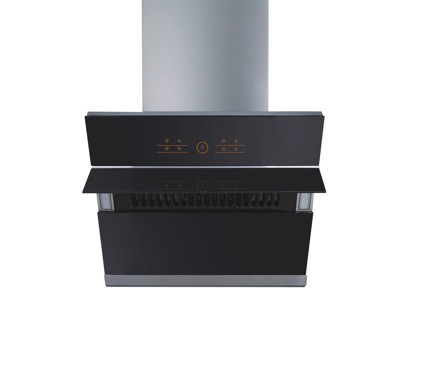MODA Germany Stainless Steel Kitchen Chimney With Black Glass - Petra 60